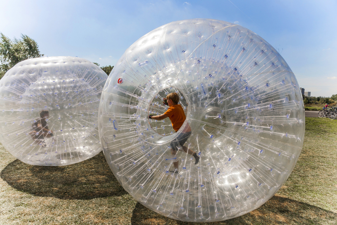 Zorbing experience gift