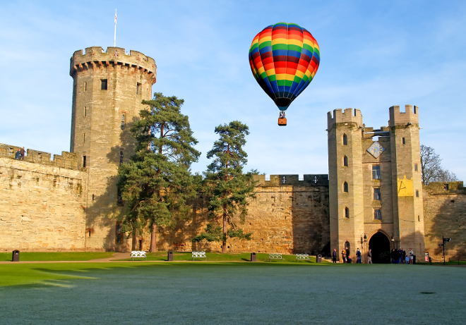 hot air balloon experience, Warwickshire